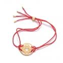 24k Gold Gloss Red Base Chakra Bracelet