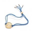 24k Gold Gloss Blue Throat Chakra Bracelet