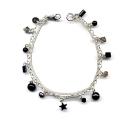 Onyx charm bracelet
