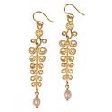 Gold Etruscan Earrings