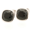 Black Crystal Cushion Cufflinks