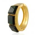 Gold Emerald Cuff