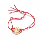 Daisy 24k Gold Gloss Red Base Chakra Bracelet