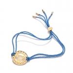 Daisy 24k Gold Gloss Blue Throat Chakra Bracelet
