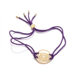 Daisy 24k Gold Gloss Purple Brow Chakra Bracelet