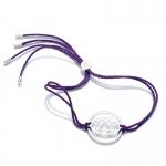 Daisy Sterling Silver Purple Brow Chakra Bracelet