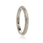 Silver Shimmer Stacking Ring by Assya
