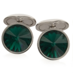 Emerald Swarovski Galileo Cufflinks by Babette Wasserman