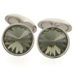 Black Diamond Swarovski Galileo Cufflinks by Babette Wasserman