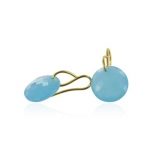 Leo Aqua earrings by Monica Vinader