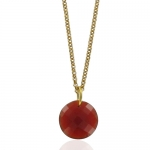 Leo Chalcedony necklace by Monica Vinader