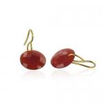 Leo Chalcedony earrings by Monica Vinader