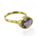 Candy Oval Amethyst ring by Monica Vinader