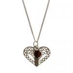 Garnet Heart pendant by Mirabelle