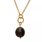 Purple Brass necklace by Mirabelle