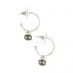 Peacock pearl earrings by Mirabelle