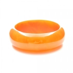 Orange Resin Bangle by Mirabelle