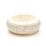 Ivory Resin bangle by Mirabelle