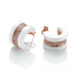 White Deco Earrings by Babette Wasserman