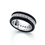 Deco Band Ring by Babette Wasserman