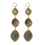 Labradorite Cocktail Drop Earrings by Missoma