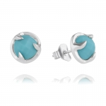Silver Turquoise Claw Stud Earrings by Missoma