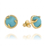 Gold Turquoise Claw Stud Earrings by Missoma