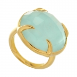 Chalcedony Cocktail Ring by Missoma