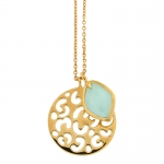 Gold Chalcedony Leopard Pendant by Missoma