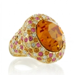 Topaz Swarovski Cocktail Ring by Kenneth Jay Lane