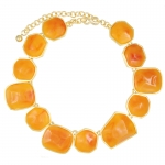 Amber Nugget necklace by Kenneth Jay Lane