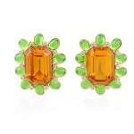 Peridot and Topaz Earrings by Kenneth Jay Lane