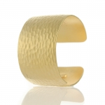 Gold Textured Cuff by Kenneth Jay Lane