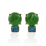 Peridot and Aqua Earrings by Kenneth Jay Lane