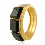 Gold Emerald Cuff by Kenneth Jay Lane