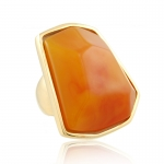 Amber Nugget Ring by Kenneth Jay Lane