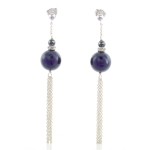 Purple deco earrings by Karen Morrison