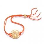 Daisy 24k Gold Gloss Orange Sacral Chakra Bracelet