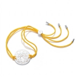 Daisy Sterling Silver Yellow Solar Plexus Chakra Bracelet