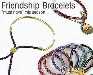 friendship bracelets at Joots from Monica Vinader and Assya