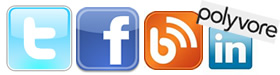 Social Media at Joots -Facebook, Twitter, Blogger, Linked In an Polyvore